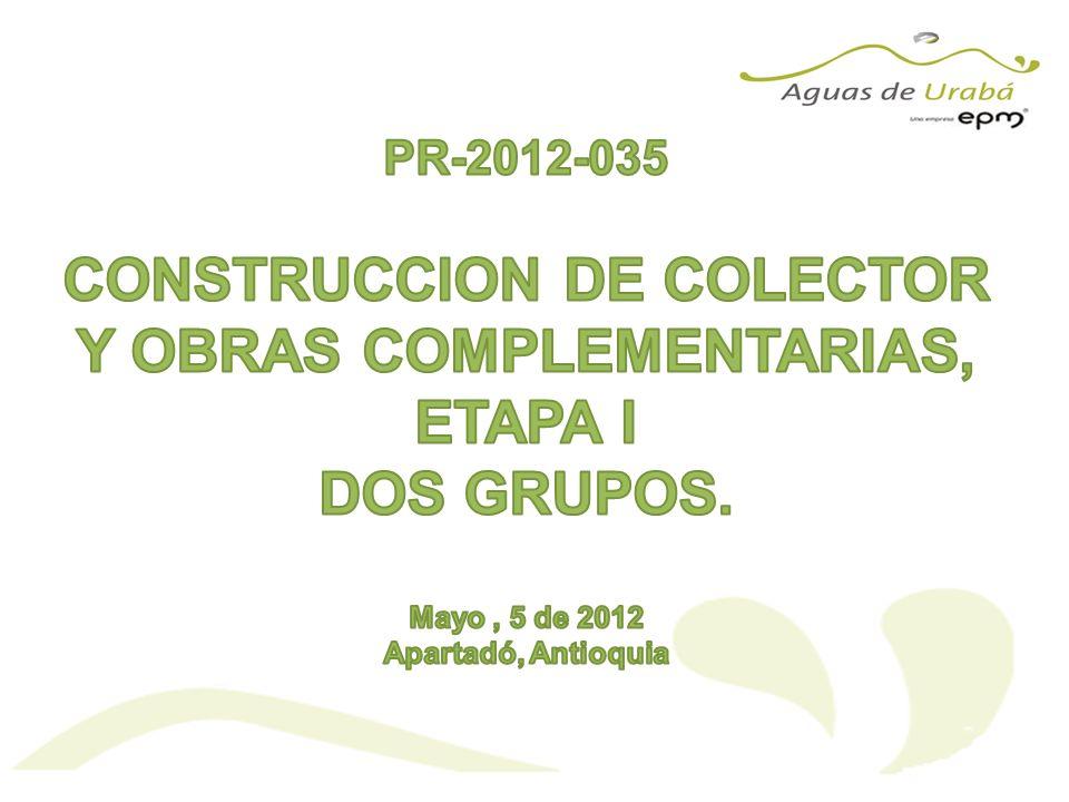 OBJETO DEL CONTRATO Mediante esta solicitud pública de ofertas, AGUAS DE URABA S.A.