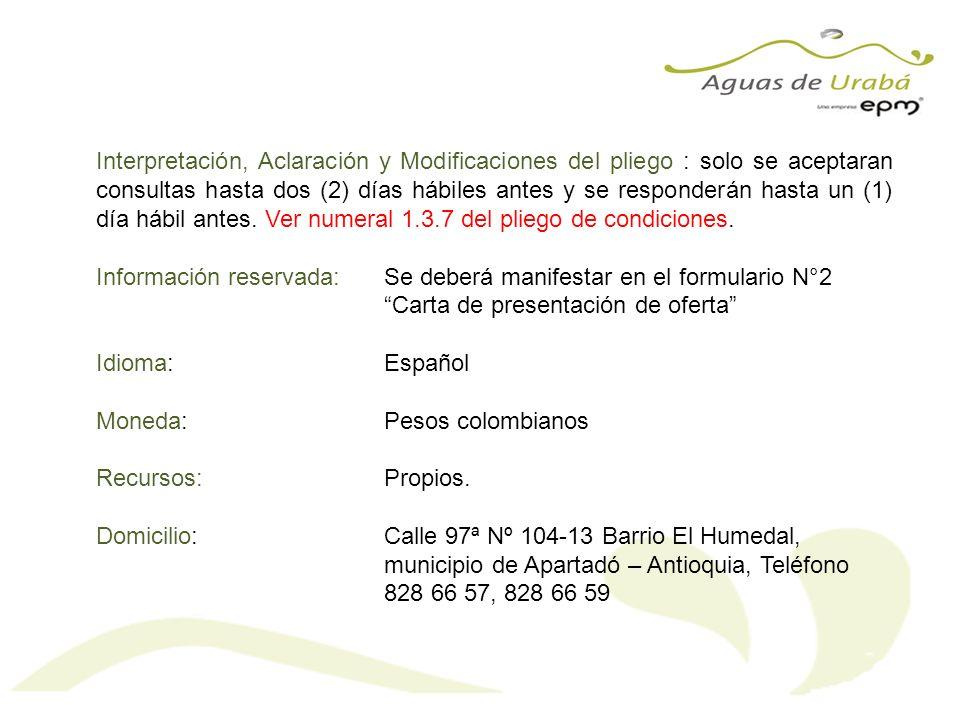 Ver Anexo 1.Manual de manejo de impactos socio ambientales Aguas de Urabá S.A.