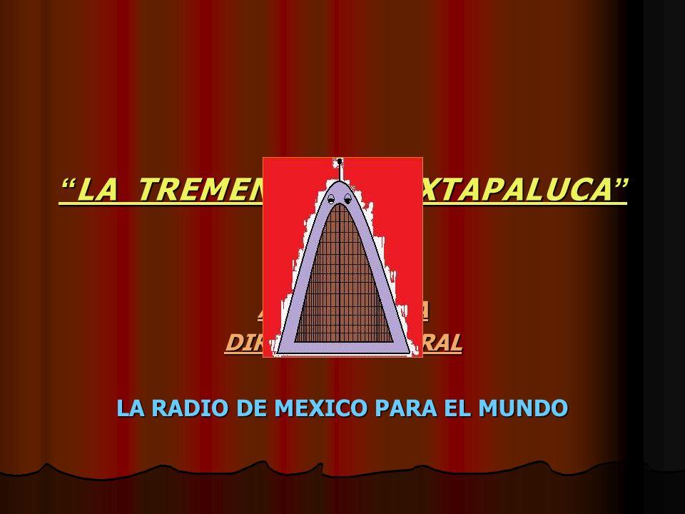 LA TREMENDA DE IXTAPALUCA LA TREMENDA DE IXTAPALUCA AXEL ALCOSTA DIRECTOR GENERAL LA RADIO DE MEXICO PARA EL MUNDO