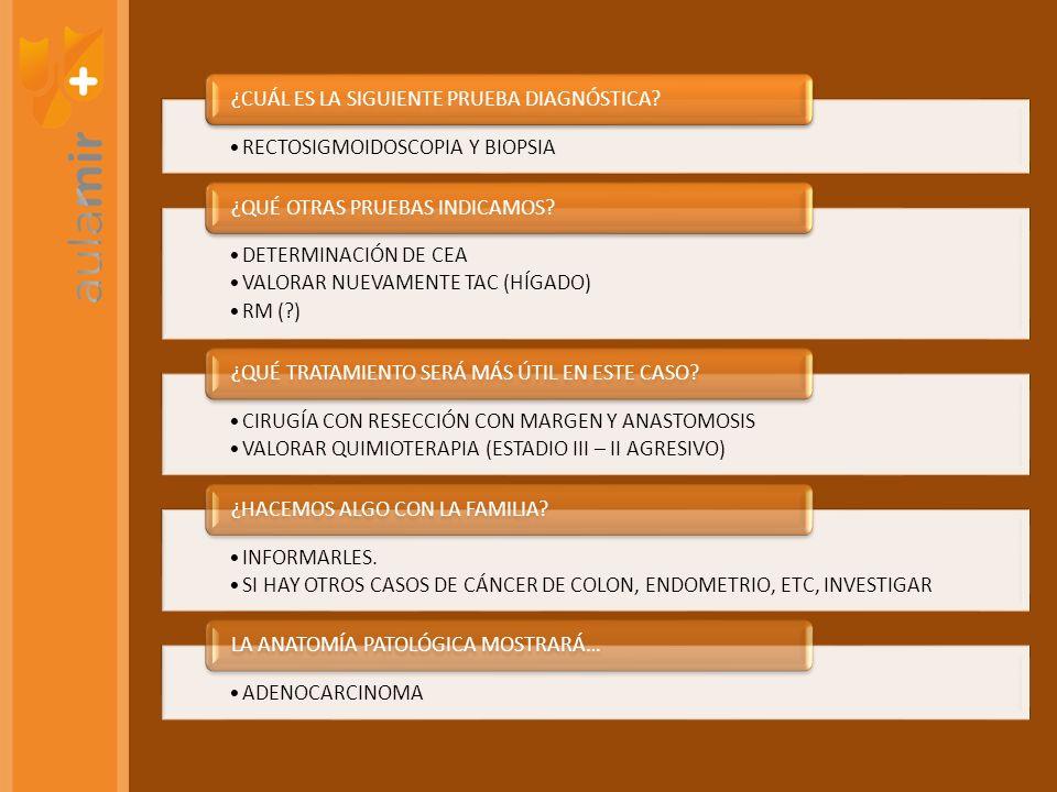 LINFOMA T INTESTINAL CELIAQUÍA GÁSTRICO FUNDUS ANEMIA PERNICIOSA ESÓFAGO TILOSIS COLON ACROMEGALIA ADENOCARCINOMA Y LINFOMA GÁSTRICO HELICOBACTER ESÓFAGO (ADENOCARCINOMA) BARRETT COLON (LYNCH).