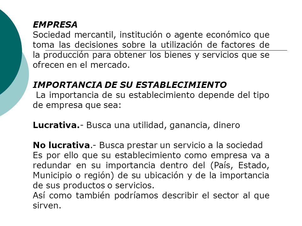 Tema No. 5 Objetivos de la Empresa Primeramente iniciaremos con la definición de Objetivo y de Empresa OBJETIVO Es el enunciado escrito sobre resultad