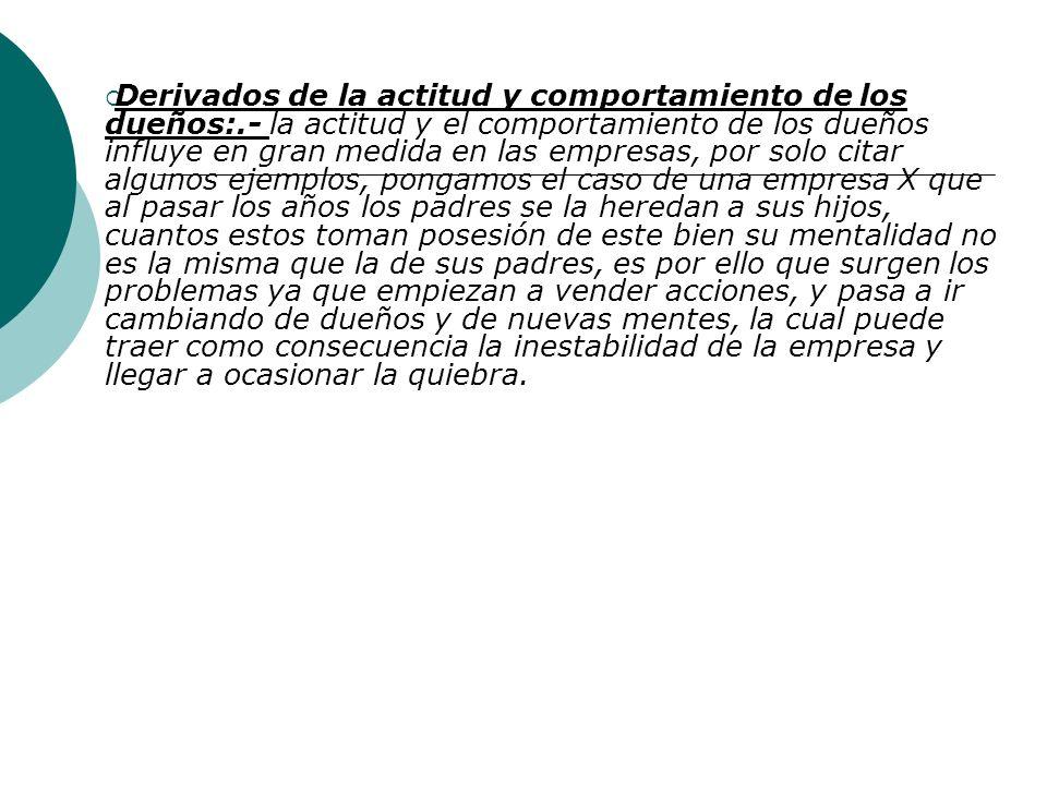 Tema No. 9 Problemática de las empresas en México Derivados del Entorno (medio ambiente).- Depende en gran manera del tipo de empresa que sea, pero en