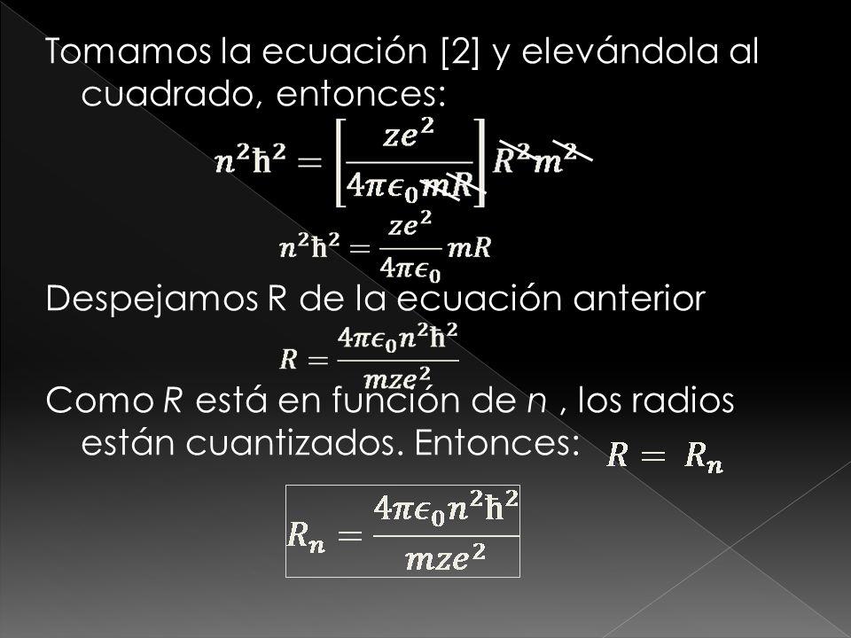 Obteniendo Retomando la Ecuación [1] y elevándola al cuadrado, entonces: [3]