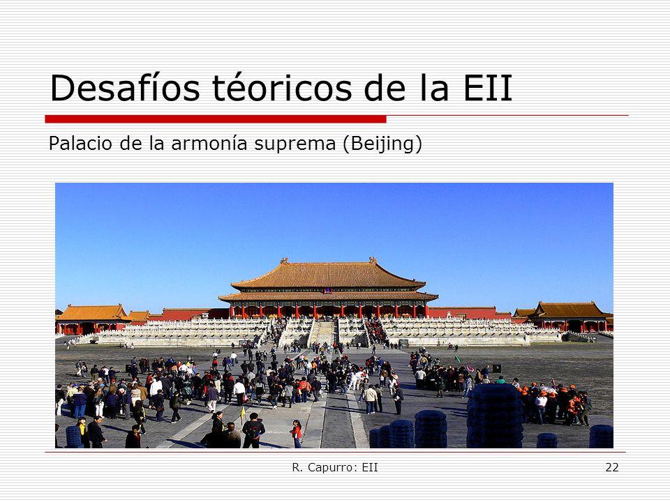 R. Capurro: EII22 Desafíos téoricos de la EII Palacio de la armonía suprema (Beijing)