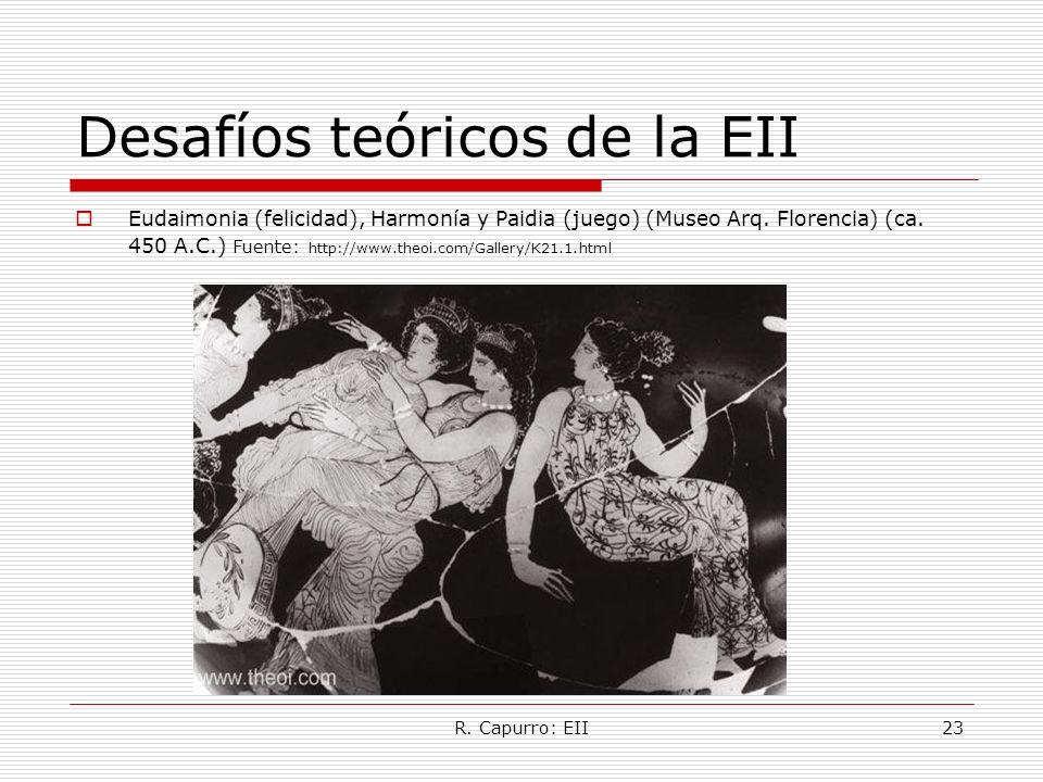 R. Capurro: EII23 Desafíos teóricos de la EII Eudaimonia (felicidad), Harmonía y Paidia (juego) (Museo Arq. Florencia) (ca. 450 A.C.) Fuente: http://w