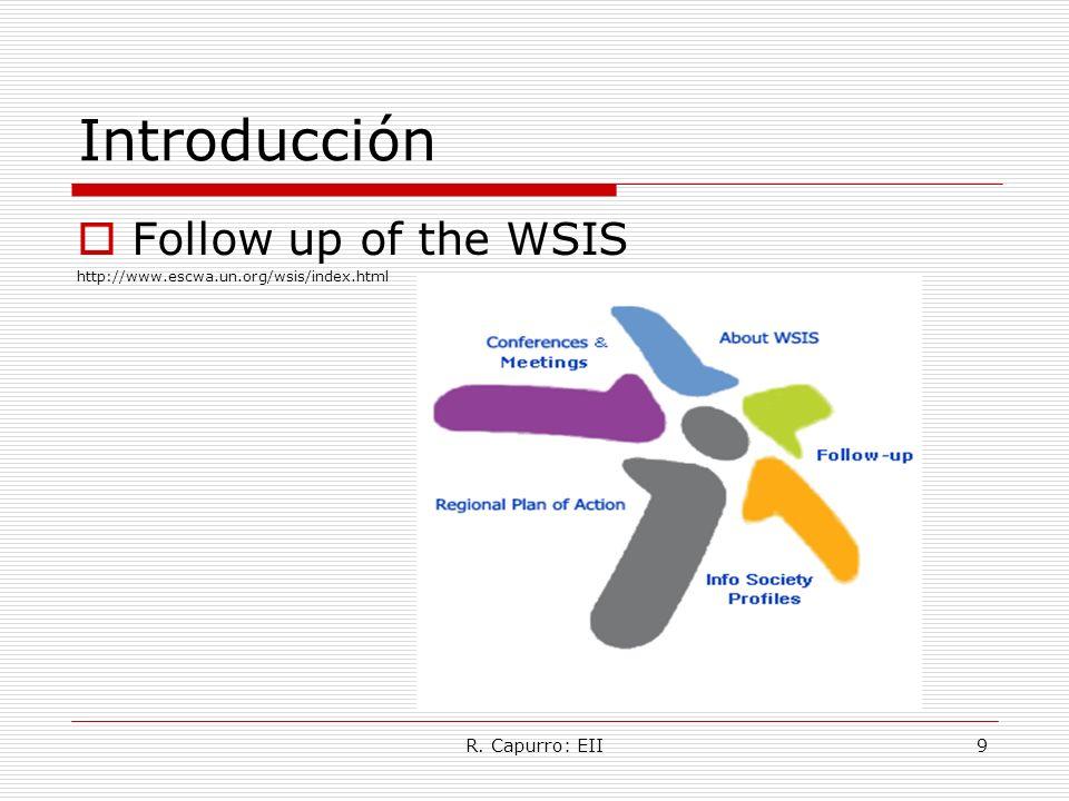 R. Capurro: EII9 Introducción Follow up of the WSIS http://www.escwa.un.org/wsis/index.html