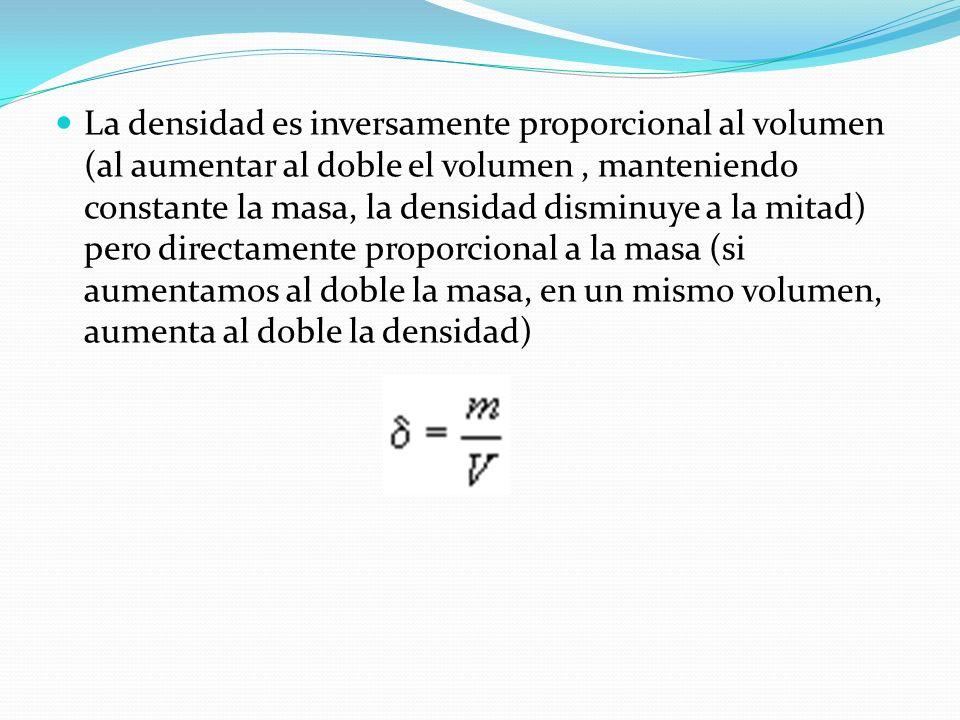 Densidad de un gas En un determinado volumen las moléculas de gas ocupan cierto espacio. Si aumenta el volumen (imaginemos un globo lleno de aire al q