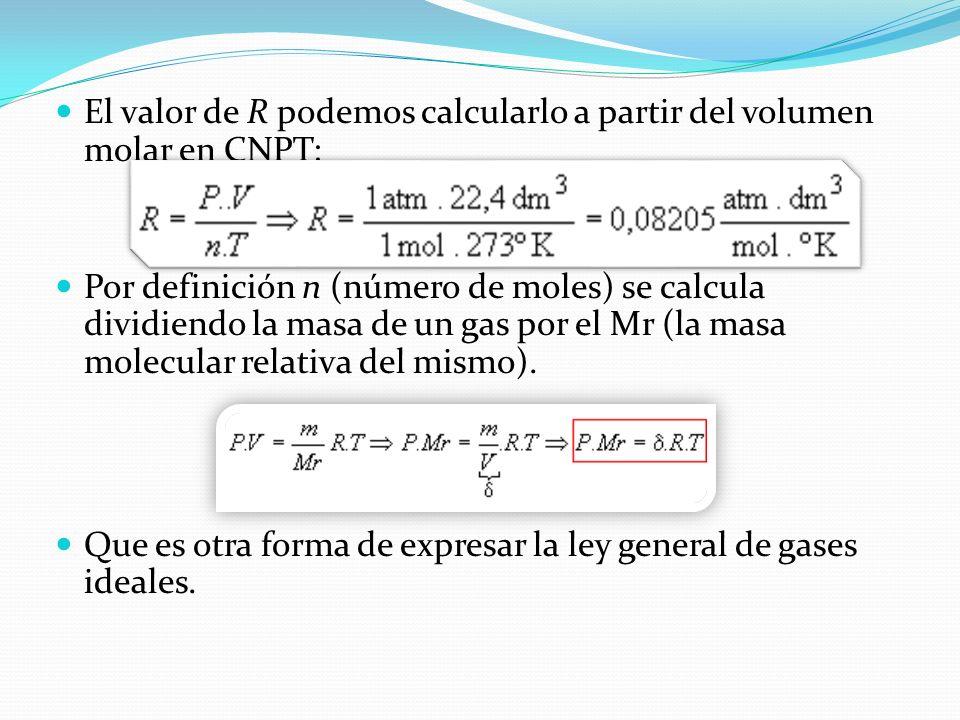 Ley de los Gases Generalizada Como consecuencia de la hipótesis de Avogadro puede considerarse una generalización de la ley de los gases. Si el volume