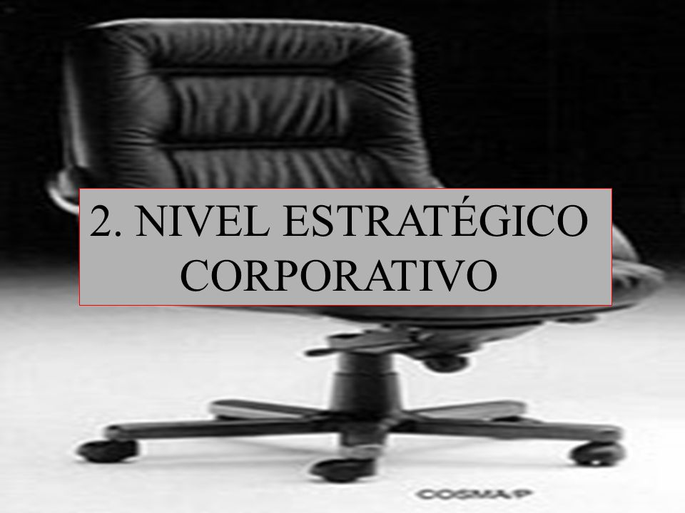 12 2. NIVEL ESTRATÉGICO CORPORATIVO