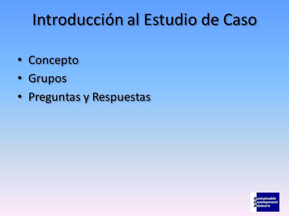 Introducción al Estudio de Caso Concepto Grupos Preguntas y Respuestas Concepto Grupos Preguntas y Respuestas