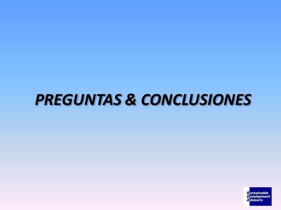 PREGUNTAS & CONCLUSIONES