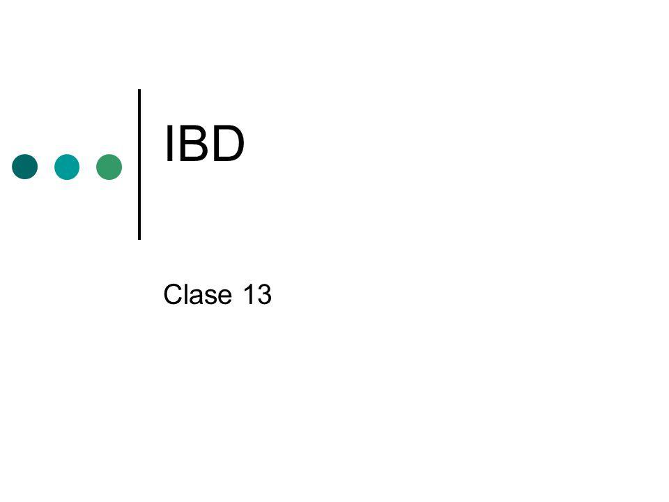 IBD Clase 13