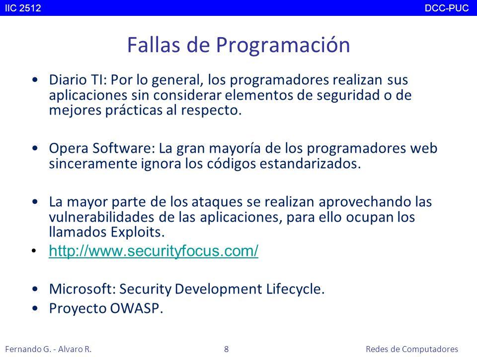 Fallas de Programación Diario TI: Por lo general, los programadores realizan sus aplicaciones sin considerar elementos de seguridad o de mejores práct