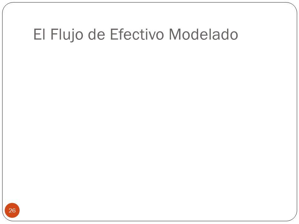 El Flujo de Efectivo Modelado 26
