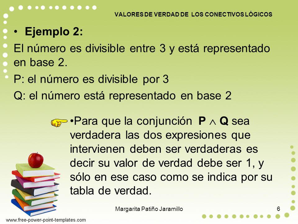 Ejemplo 2: El número es divisible entre 3 y está representado en base 2.