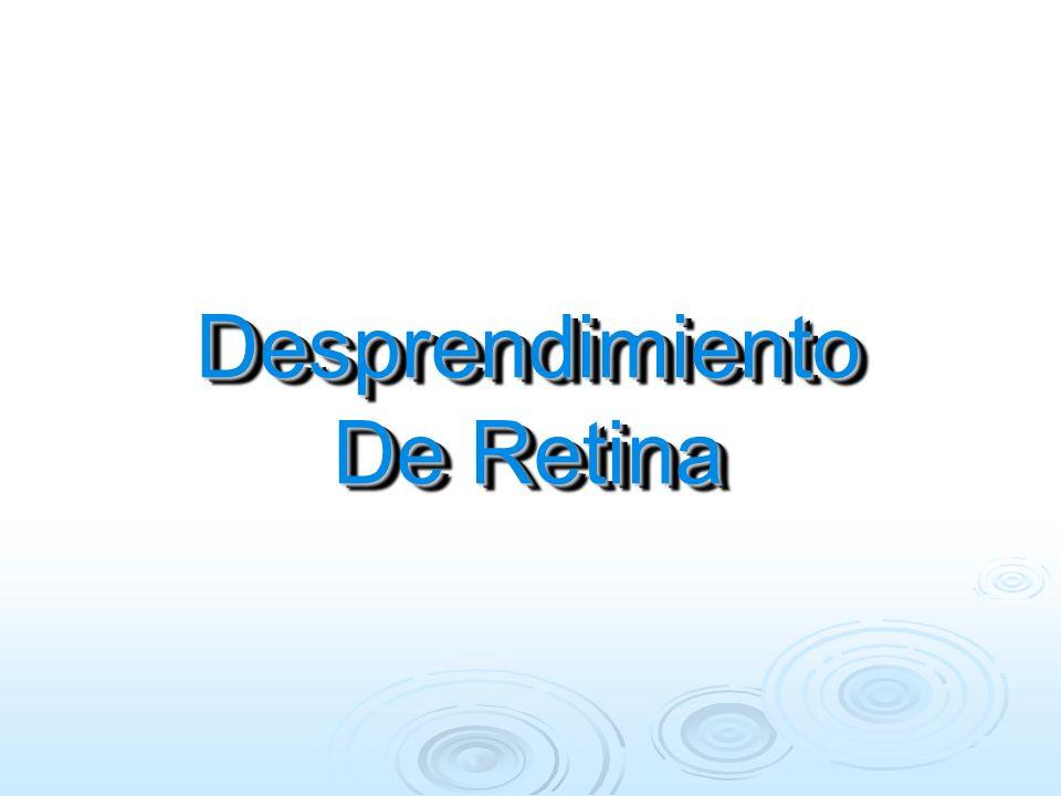 La acción de O2 produce Vasocontricción arteriolar y obliteración de vasos inmaduros Edema del tejido retiniano isquémico Neovascularización reactiva a la isquemia Pérdida del contenido de los neovasos: hemorragia y exudados Formación de tejido fibrovascular retino vítreo Fibrosis d y reacción de ese tejido