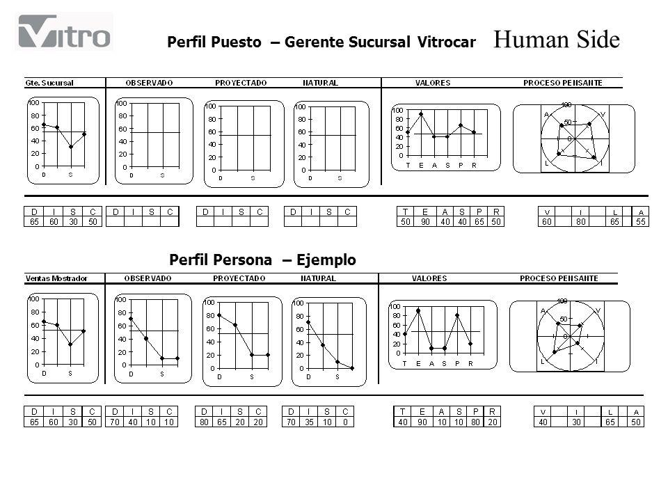 Human Side Perfil Puesto – Gerente Sucursal Vitrocar Perfil Persona – Ejemplo