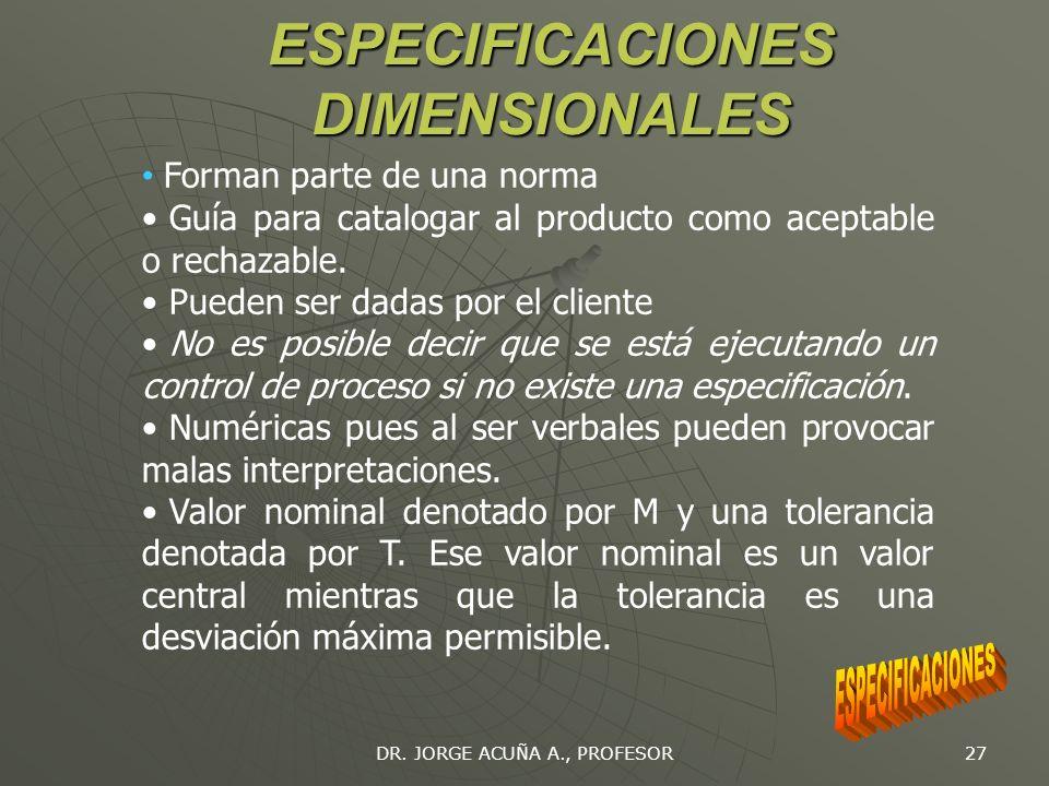 DR. JORGE ACUÑA A., PROFESOR 26 PRUEBAS NO PARAMETRICAS