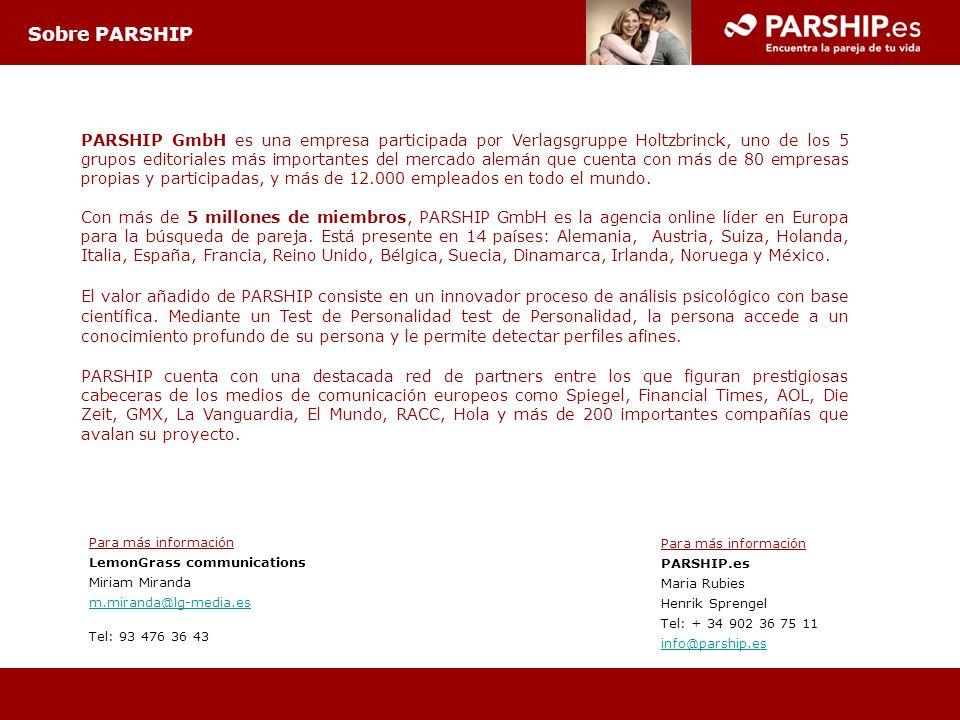 PARSHIP GmbH es una empresa participada por Verlagsgruppe Holtzbrinck, uno de los 5 grupos editoriales más importantes del mercado alemán que cuenta c