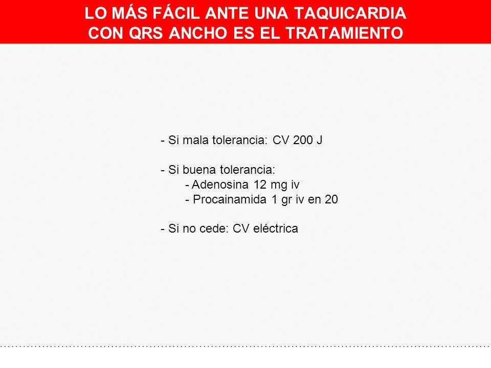 INFARTO INFERIOR ANTIGUO. TAQUICARDIA DE QRS ANCHO 230 lpm