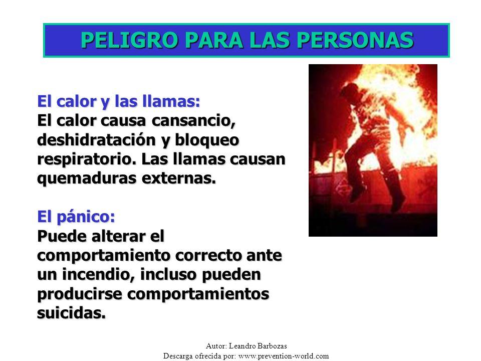 Autor: Leandro Barbozas Descarga ofrecida por: www.prevention-world.com El calor y las llamas: El calor causa cansancio, deshidratación y bloqueo resp