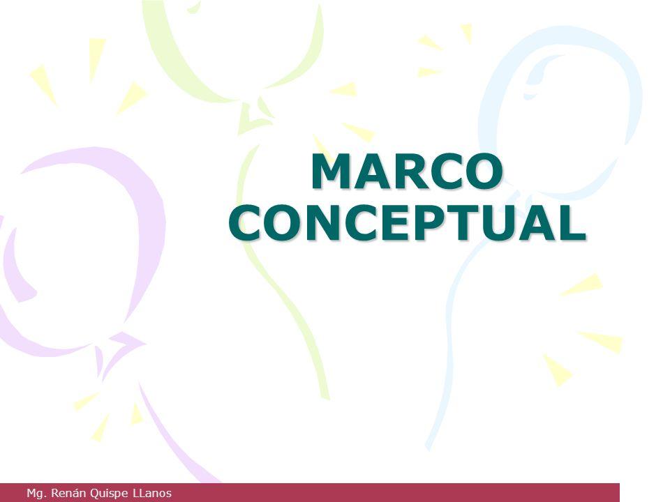 MARCO CONCEPTUAL Mg. Renán Quispe LLanos