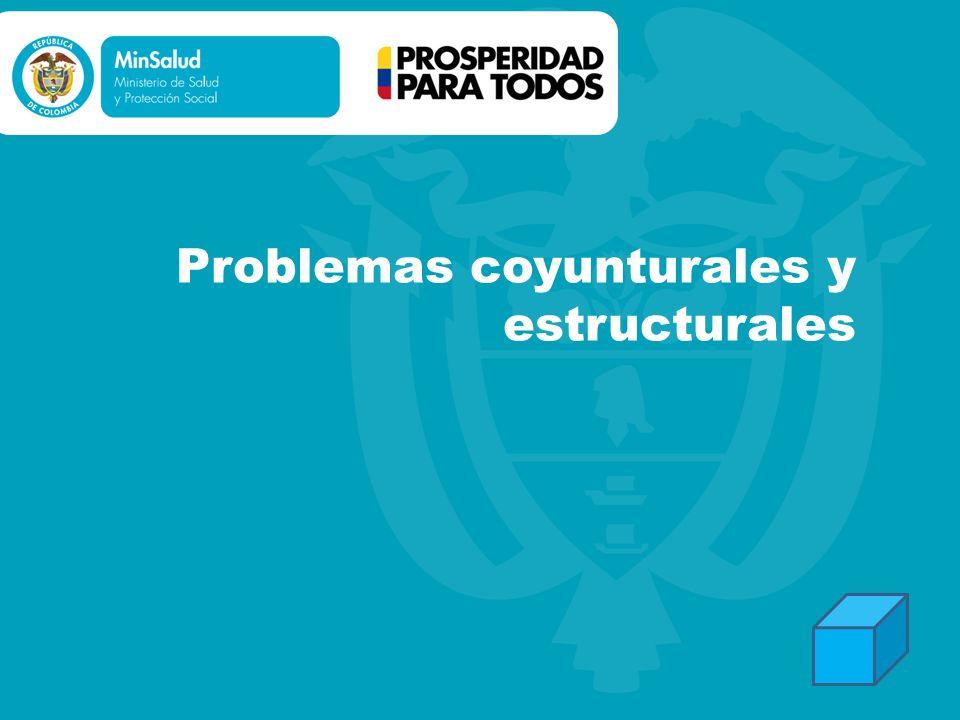 Problemas coyunturales y estructurales