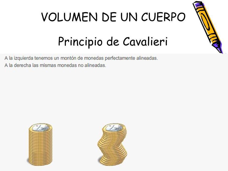 VOLUMEN DE UN CUERPO Principio de Cavalieri