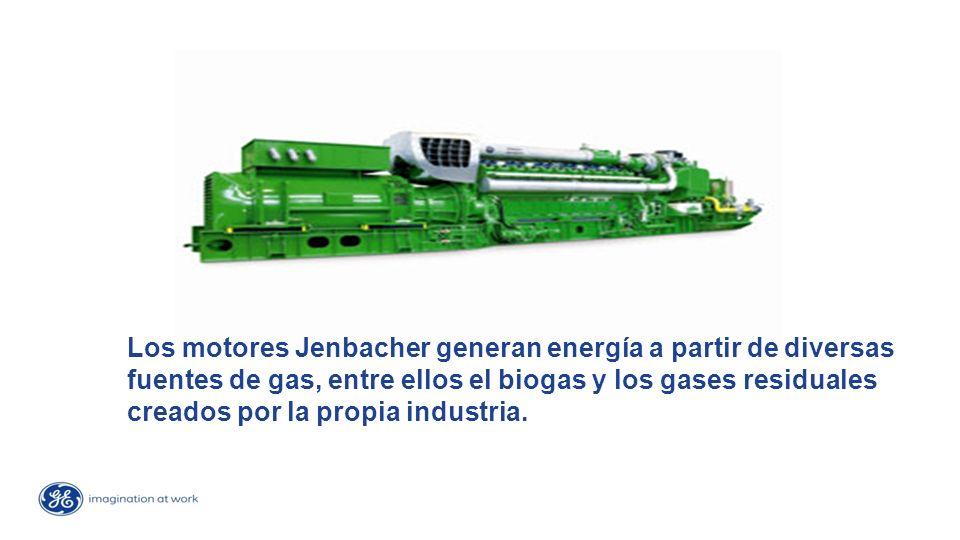 Los motores Jenbacher generan energía a partir de diversas fuentes de gas, entre ellos el biogas y los gases residuales creados por la propia industria.