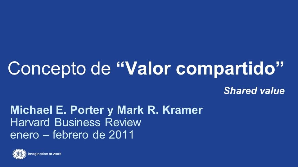 Concepto de Valor compartido Shared value Michael E.