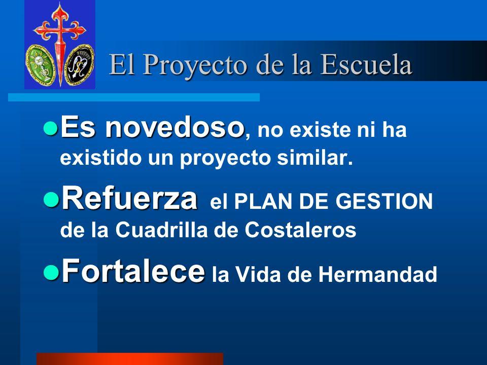 El Proyecto de la Escuela El Proyecto de la Escuela Es novedoso Es novedoso, no existe ni ha existido un proyecto similar.