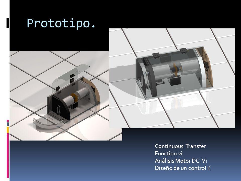 Prototipo. Continuous Transfer Function.vi Análisis Motor DC. Vi Diseño de un control K