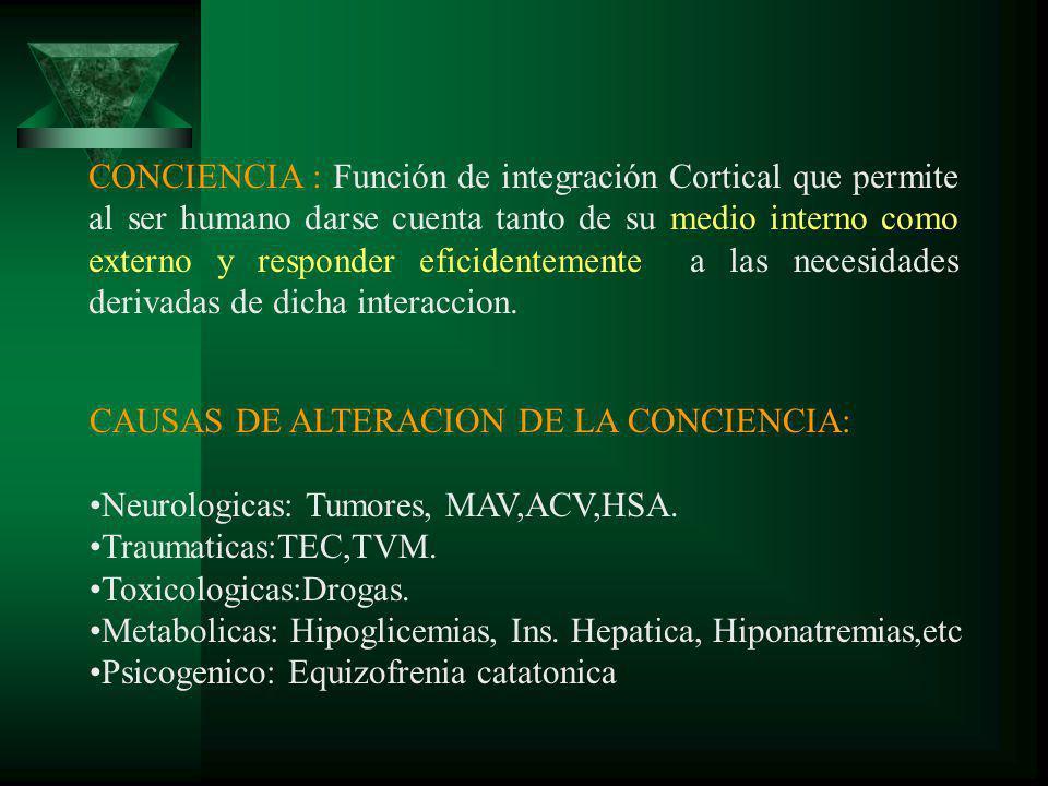 ATENCIÓN DE ENFERMERÍA AL PACIENTE CON HEC o Alteración de la perfusión cerebral R/C aumento de los niveles de presión intracranea.