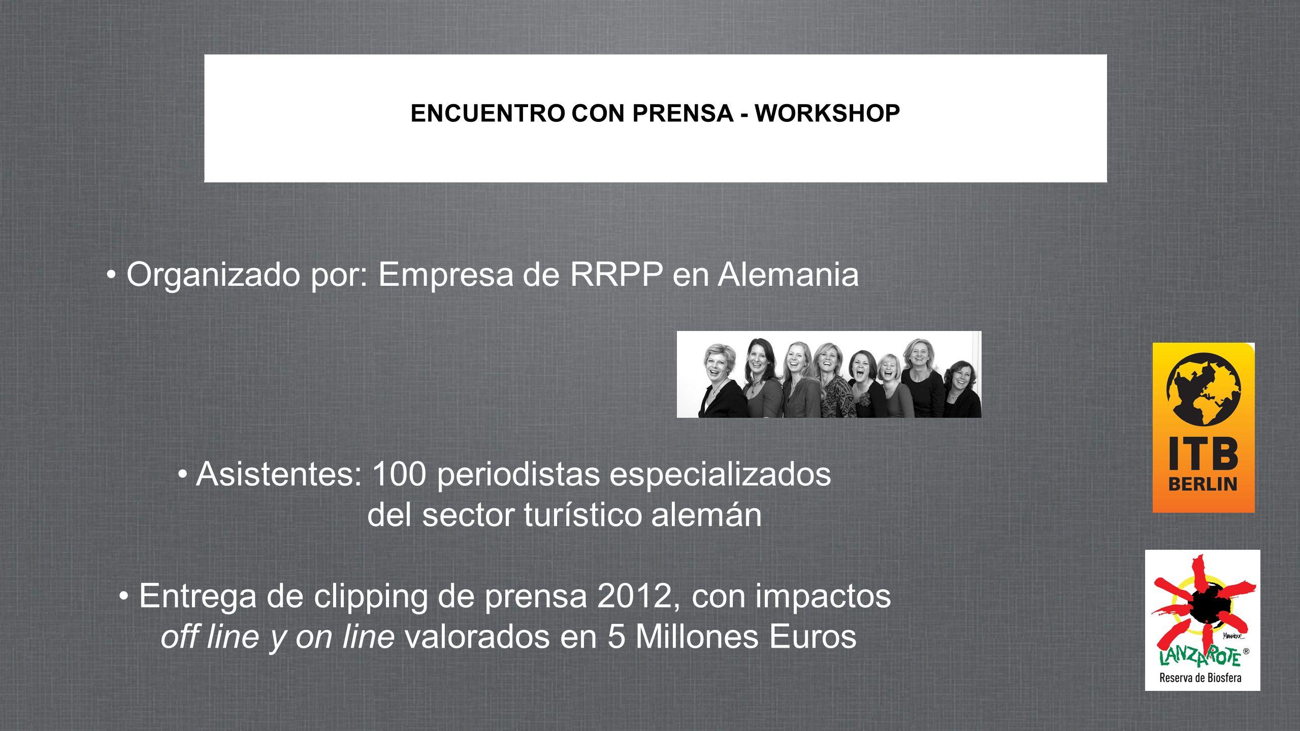 Rueda de Prensa Balance ITB 12 de Marzo 2013