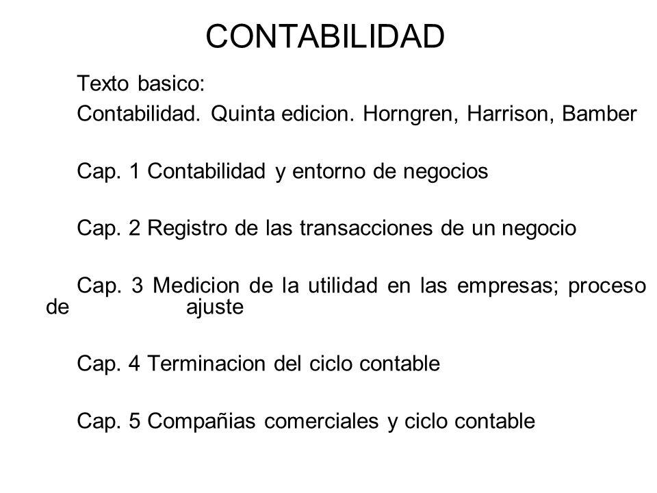 CONTABILIDAD Texto basico: Contabilidad.Quinta edicion.