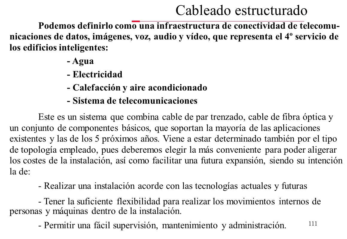 110 Conocer la importancia de mantener cableado estructurado para las redes de las oficinas Conocer las bases de la norma de cableado estructurado Asp