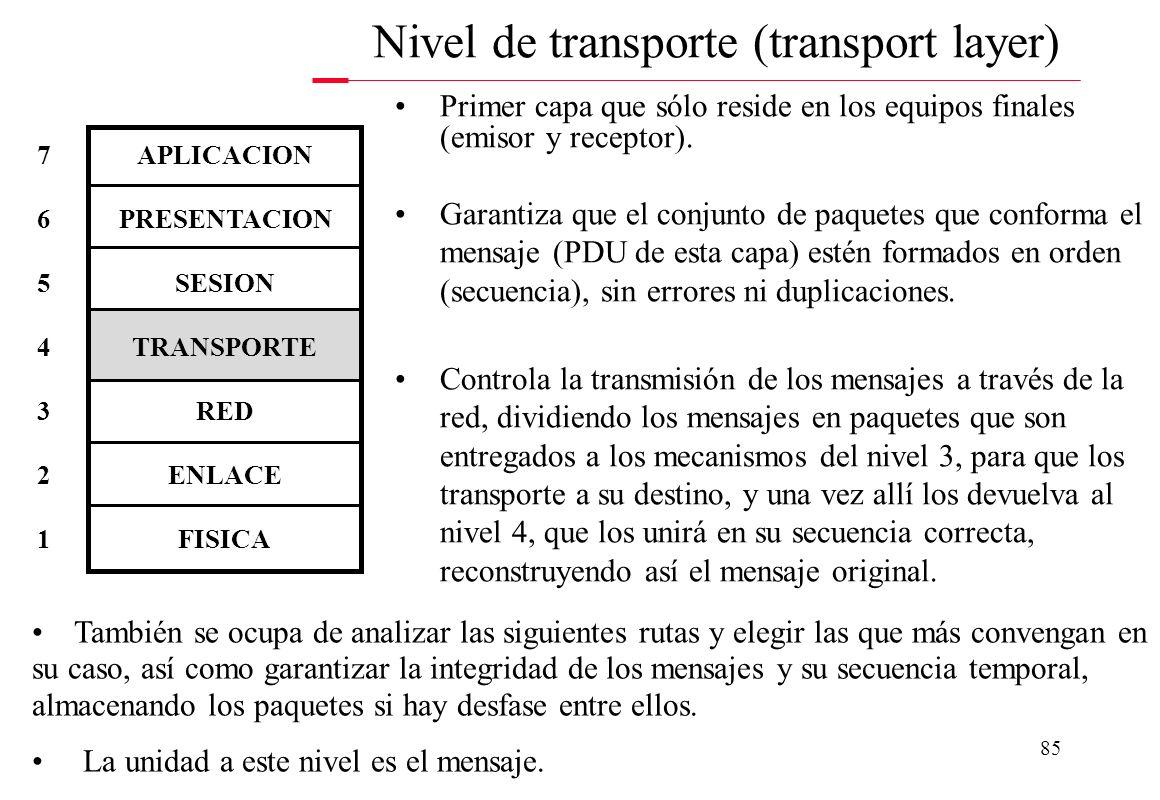 84 Selecciona la ruta que deben tomar los paquetes (PDU de la capa 3) dentro de las redes, es decir, se encarga de enlazar con la red y encaminar los
