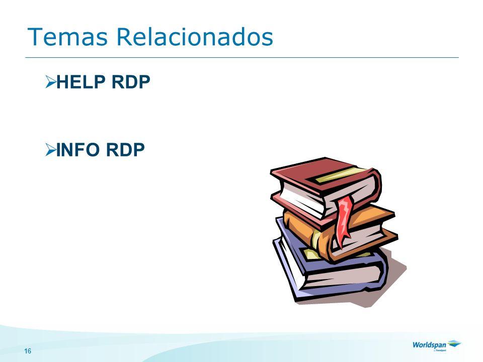 16 Temas Relacionados HELP RDP INFO RDP