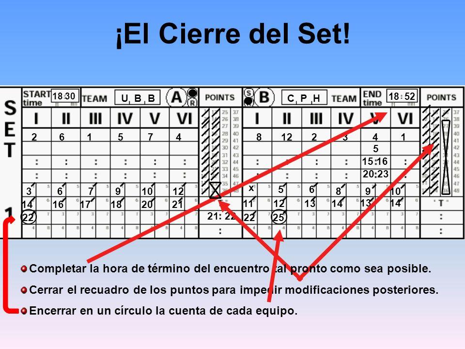 18 30 C P HU B B 8122341261574 x ¡El Cierre del Set.