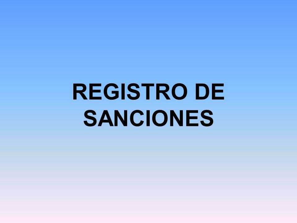 REGISTRO DE SANCIONES