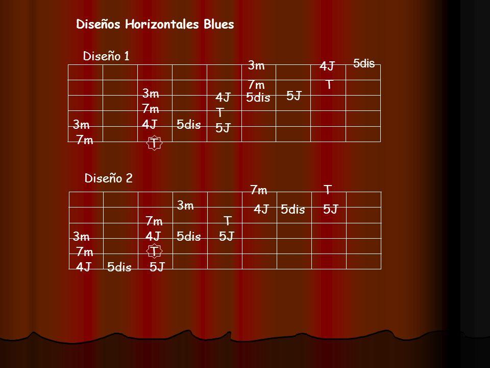 Diseños Horizontales Blues Diseño 1 Diseño 2 T 4J 5J T 3m 4J 7m 3m T 4J 7m 5J T 3m 7m 4J 7m 4J 7m 5J 3m 4J 3m 7m 5J T T 5dis