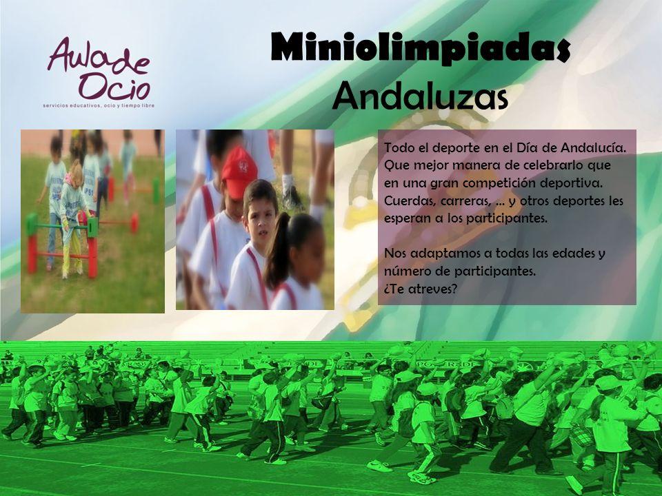 Todo el deporte en el Día de Andalucía. Que mejor manera de celebrarlo que en una gran competición deportiva. Cuerdas, carreras, … y otros deportes le