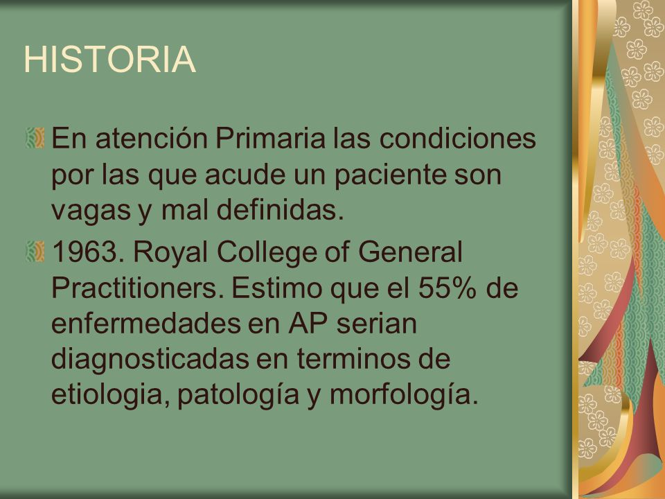 HISTORIA 1963.Royal College of General Practitioners.