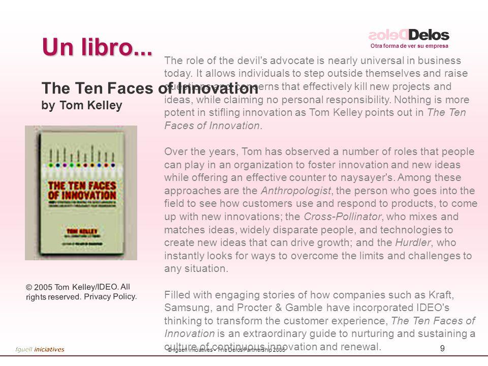 Otra forma de ver su empresa © fguell iniciatives - The Delos Partnership 2005 30 Enfocarlo a varios aspectos mencionados: ¿Compromiso con la Innovación?.