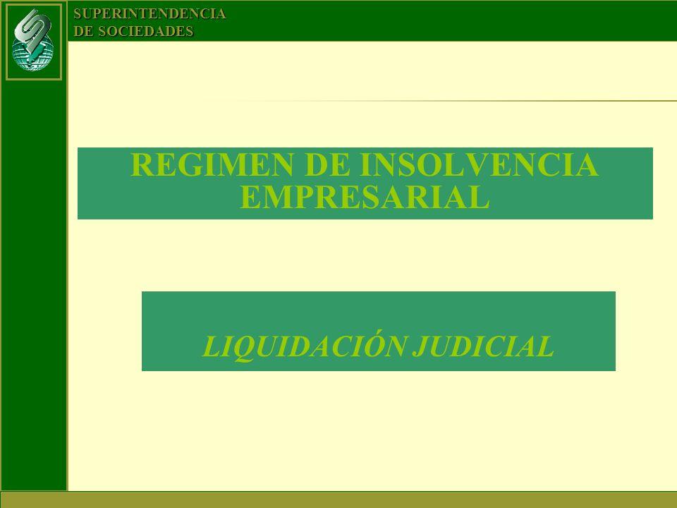 SUPERINTENDENCIA DE SOCIEDADES REGIMEN DE INSOLVENCIA EMPRESARIAL LIQUIDACIÓN JUDICIAL