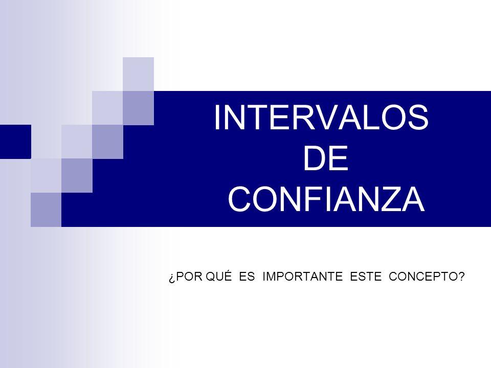 INTERVALOS DE CONFIANZA ¿POR QUÉ ES IMPORTANTE ESTE CONCEPTO?