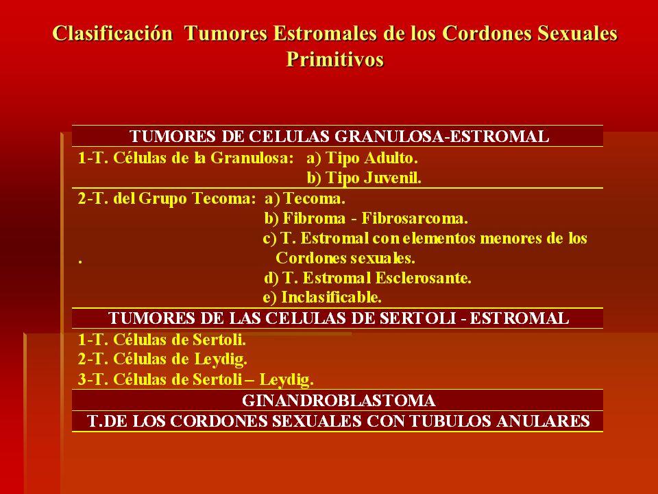 Clasificación Tumores Estromales de los Cordones Sexuales Primitivos