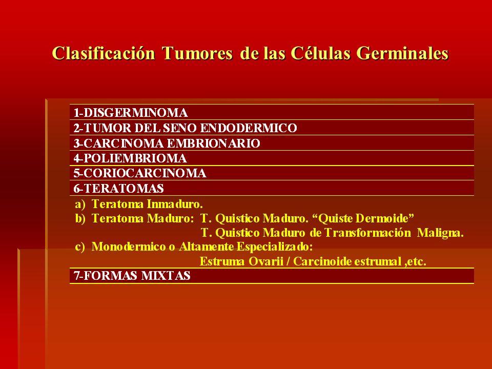 Clasificación Tumores de las Células Germinales