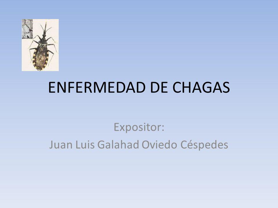 ENFERMEDAD DE CHAGAS Expositor: Juan Luis Galahad Oviedo Céspedes