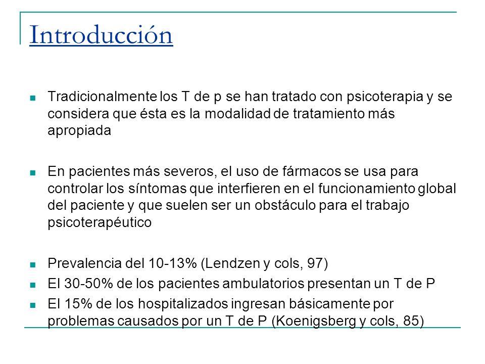 …Introducción Un elevado porcentaje de delincuentes 70- 85%, 60-70% de alcohólicos, 70-90% de abusos de sustancias: presentan además t de p (Jordan,96)